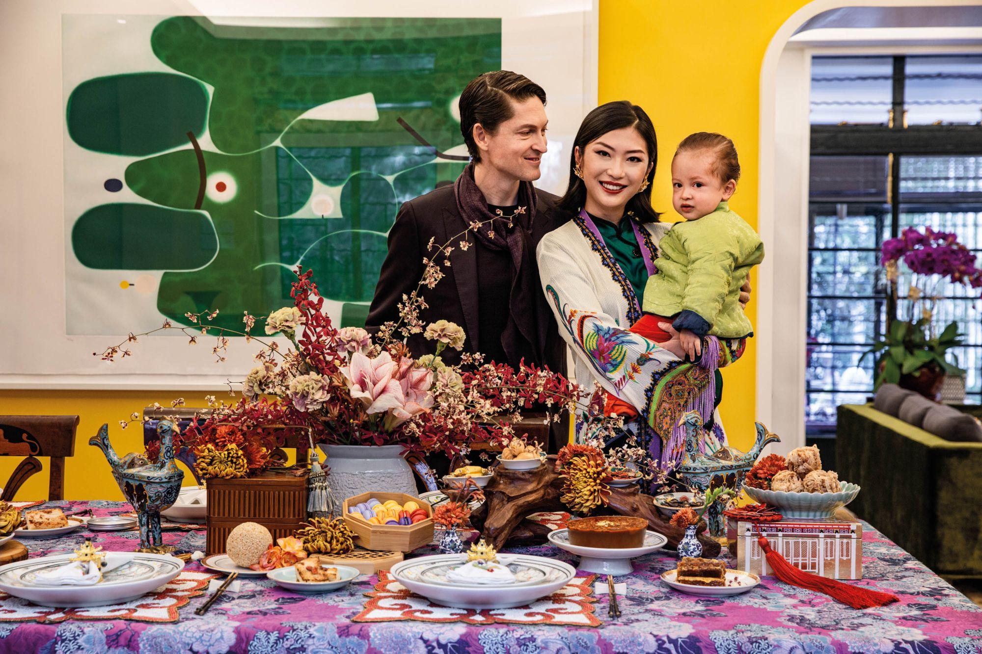 Laura Cheung Wolf and her family celebrating Chinese New Year - Tatler Hong Kong