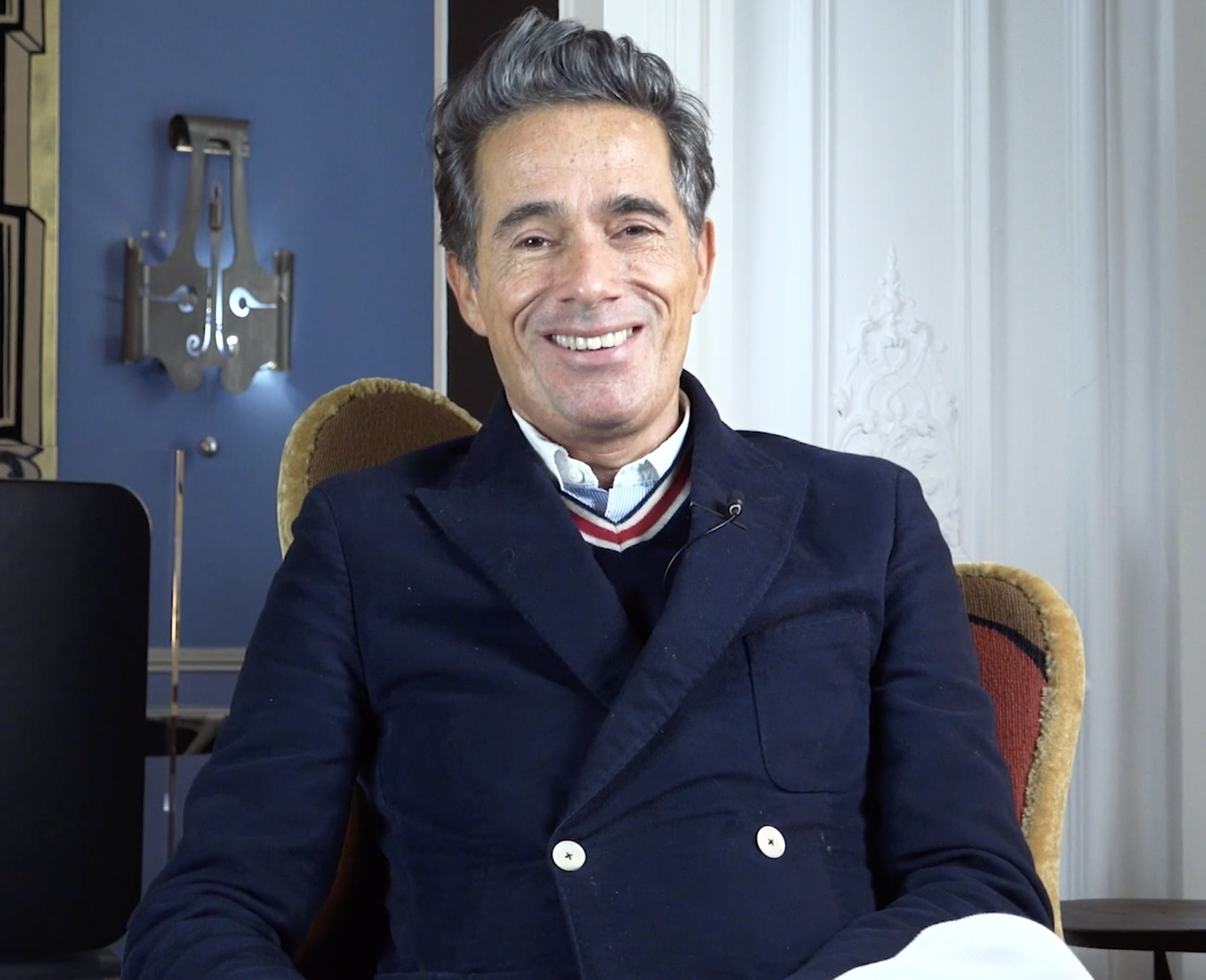 Vincent Darré exclusive interview for Diana d'Oville in his parisian home