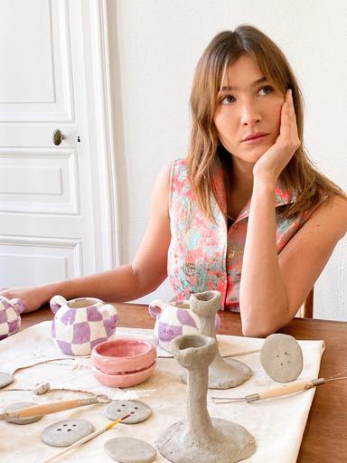 Sophia de Moser Diana d'Orville luxury brocade top