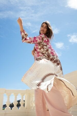 Diana d'Orville sustainable luxury couture made on the french riviera silk kimono