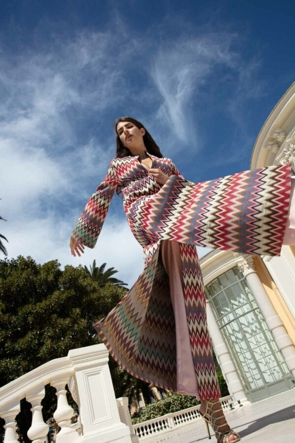 Diana d'Orville luxury gown couture kilim gown