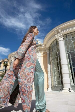 Diana d'Orville luxury kilim long gown made in France