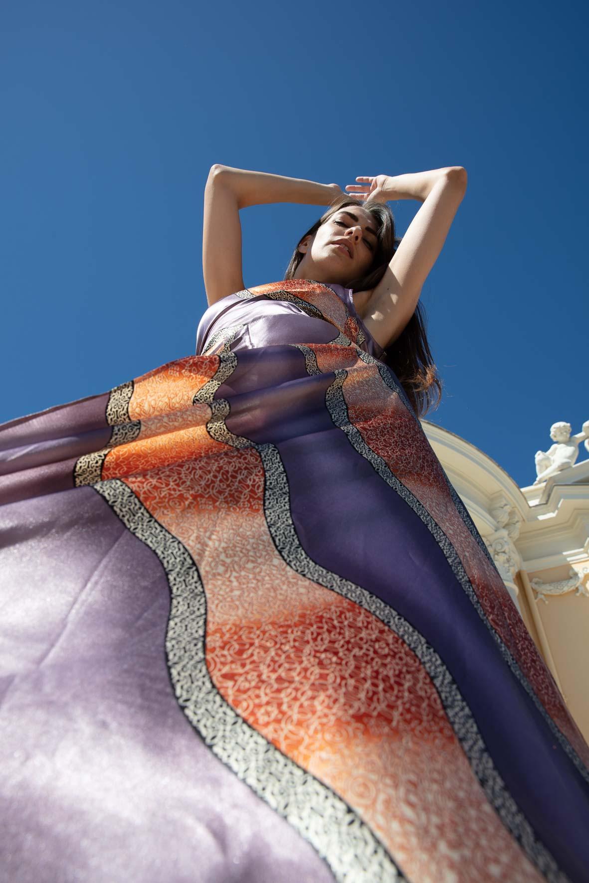 Diana d'Orville sustainable luxury printed silk set