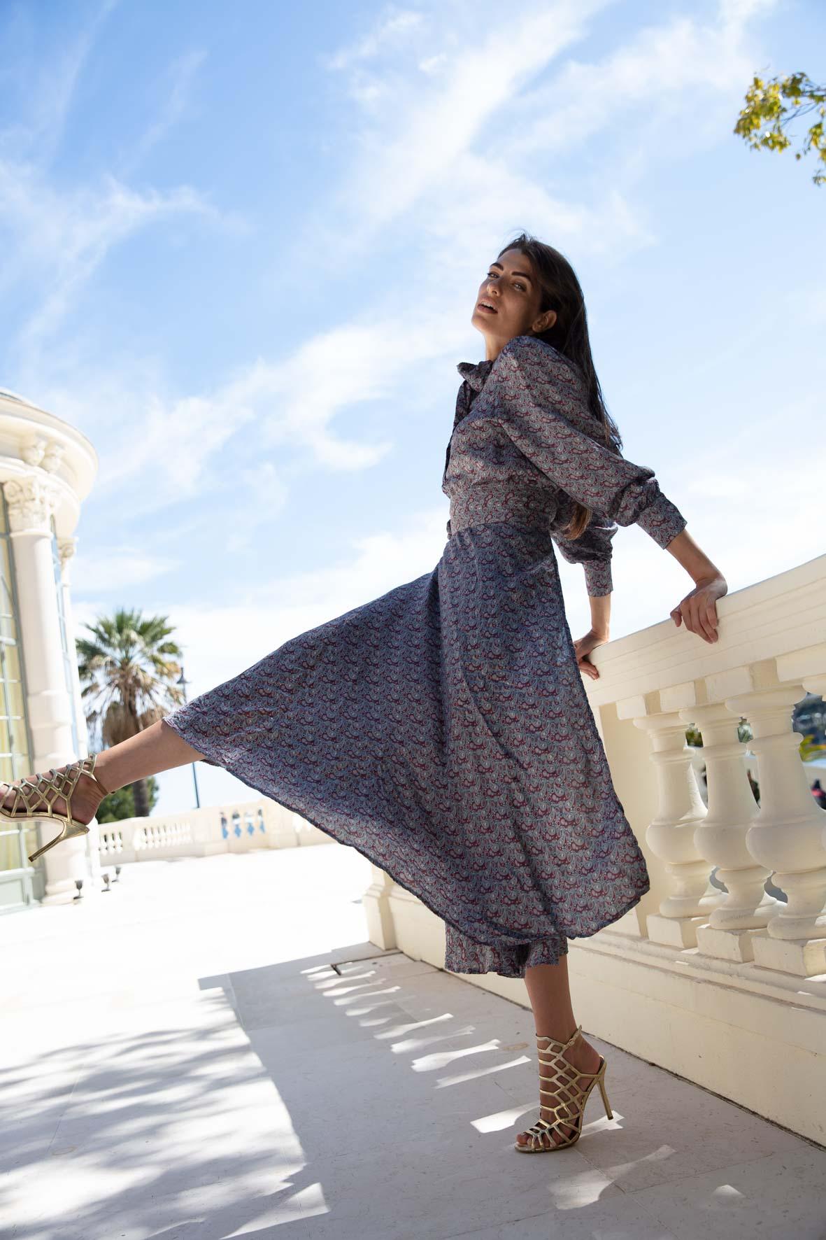 Diana d'Orville luxury silk skirt set