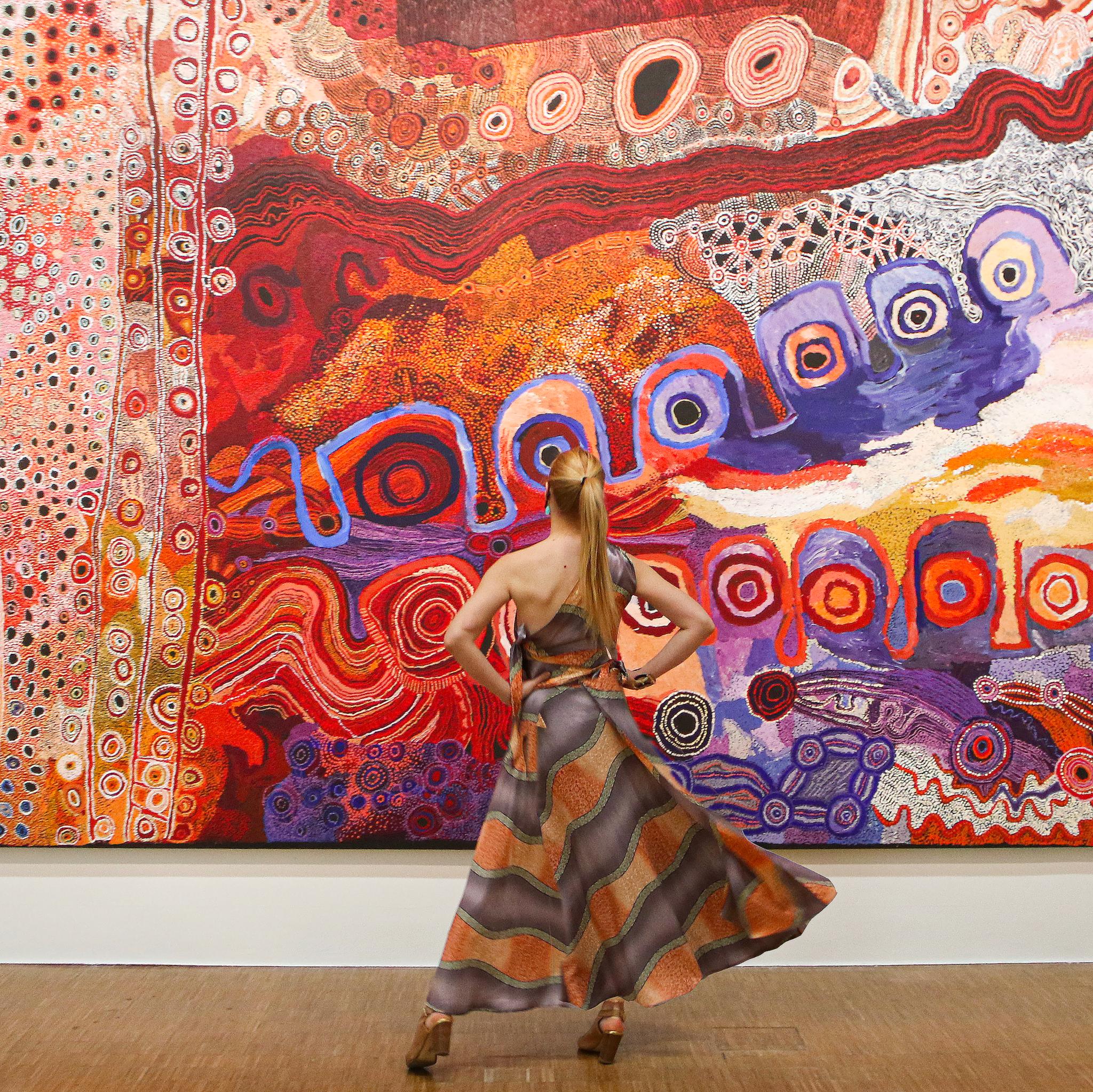 Match With Art x Diana d'Orville couture piece Centre Pompidou